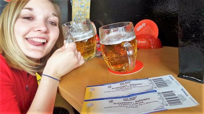 Beer in Bratislava, Slovakia