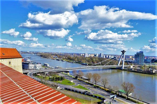 Bridge over the Danube river, Bratislava, Slovakia