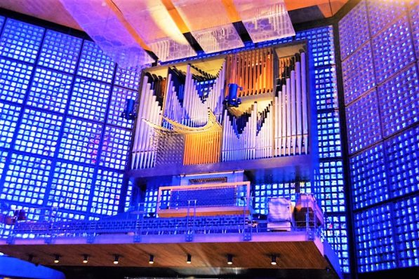 Organ inside of the chapel, Kaiser Wilhelm Memorial Church, Berlin, Germany