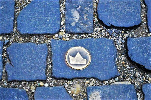 Coronation parade pavement marking, Bratislava, Slovakia