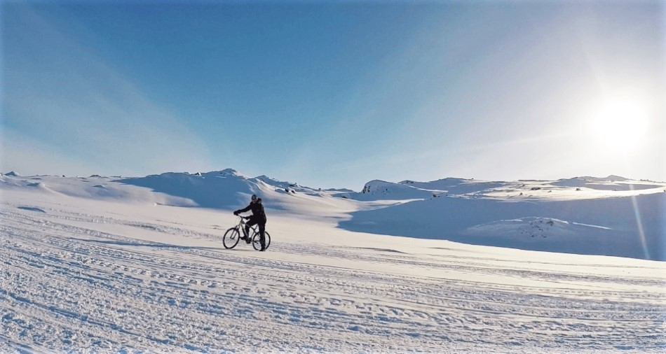 Cycling in the Arctic Circle in Greenland