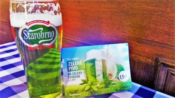 Green beer, Bratislava, Slovakia