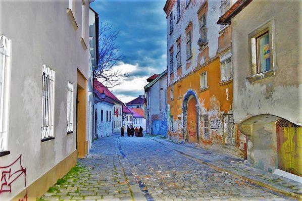 Hidden alleyways, The Pedestrian Zone of Old Town, Bratislava, Slovakia