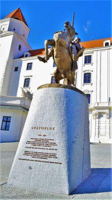 King Svätopluk I statue, Bratislava, Slovakia