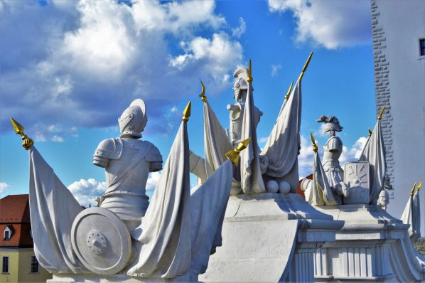Knight statues, Bratislava Castle, Bratislava, Slovakia