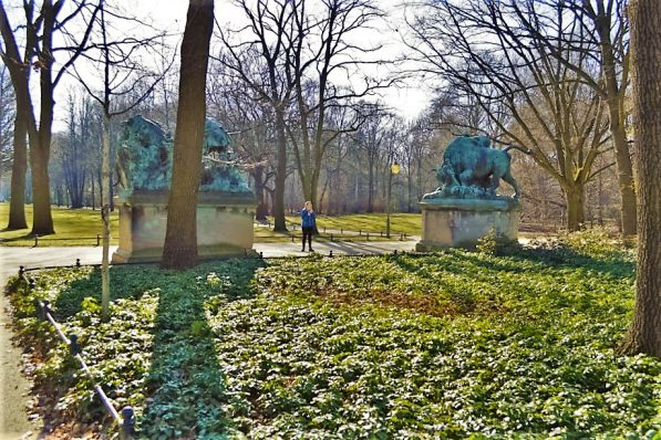 Monuments in Tiergarten, Berlin, Germany