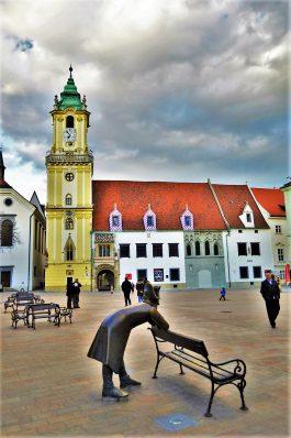 Napolean Statue, Hlavné námestie (the Main Square), Bratislava, Slovakia