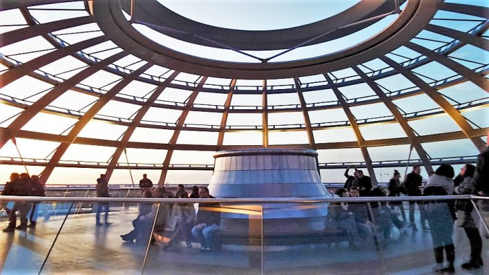 Top of the dome, Reichstag Building, Berlin, Germany
