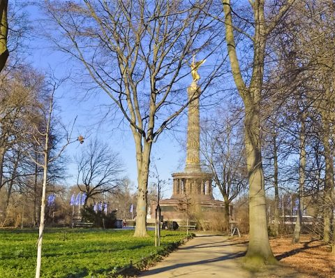 The Berlin Victory Column monument in Tiergarten, Berlin
