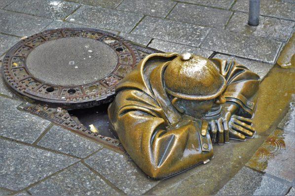 The worker statue, Bratislava, Slovakia