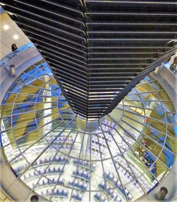 Inside the Reichstag building, Berlin, Germany