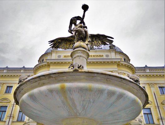 Water fountain, Hlavné námestie (The Main Square), Bratislava, Slovakia