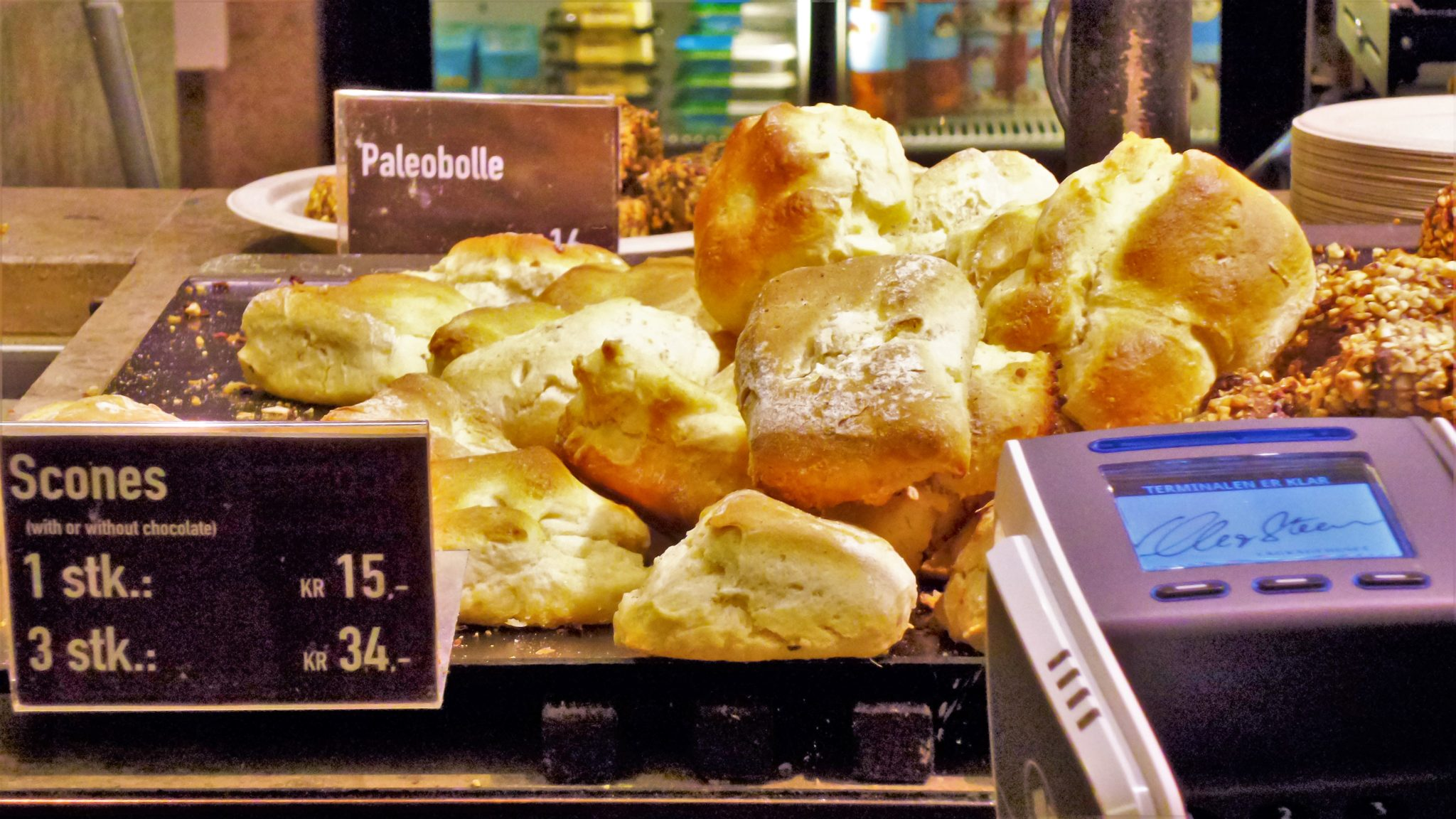 Danish pastries in Copenhagen, Denmark