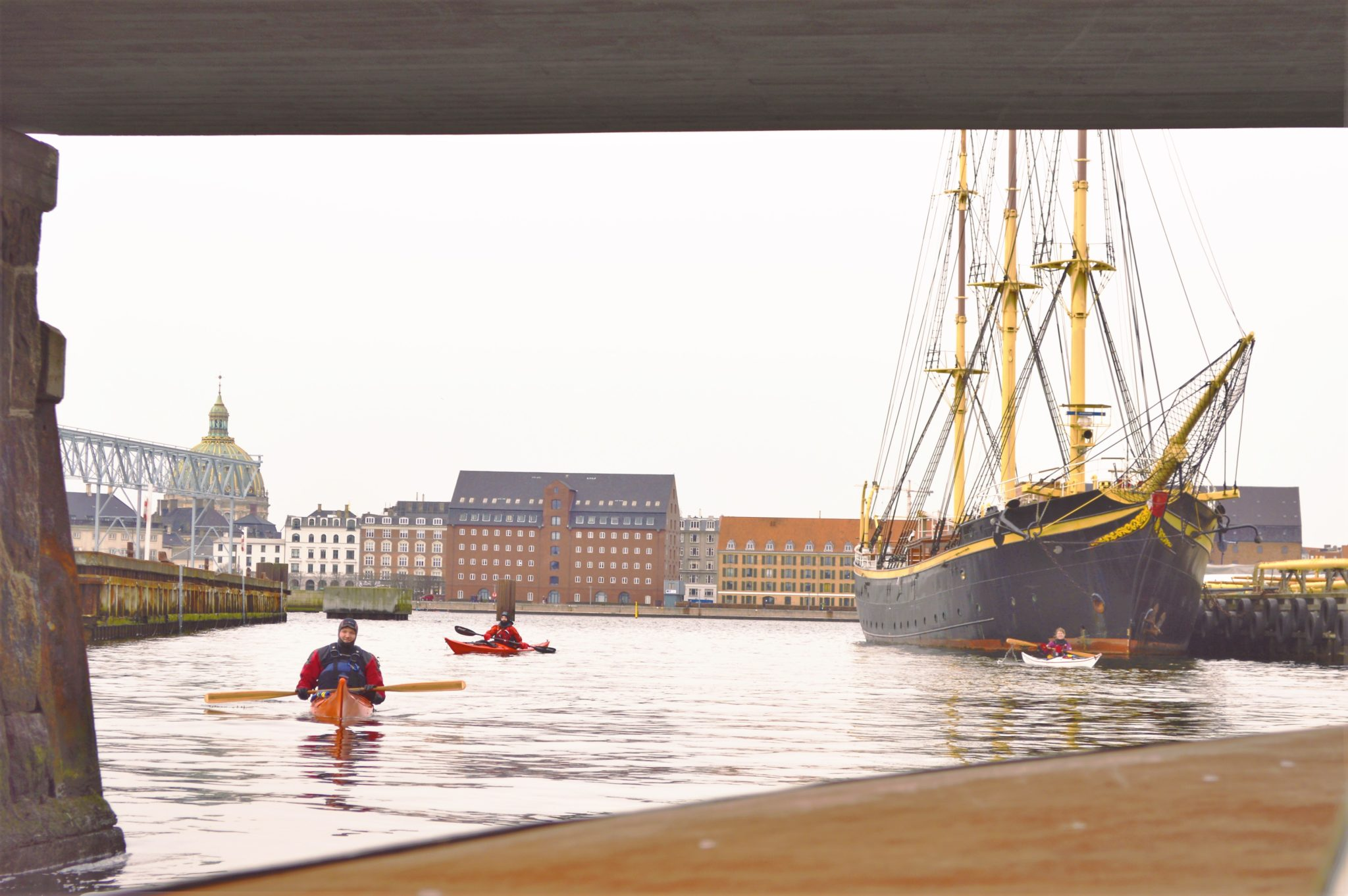 Kayakers in Copenhagen, Denmark