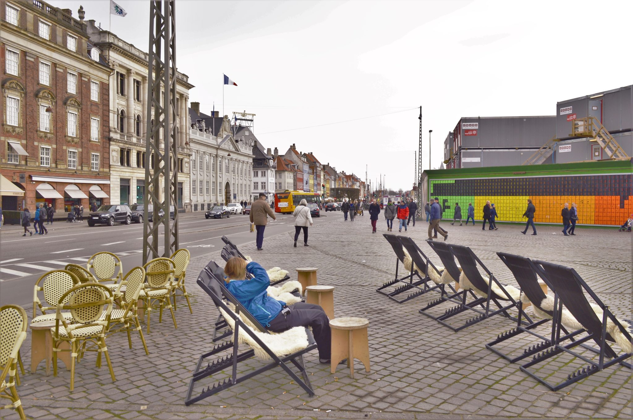 King's New Square and the Happy Wall, Copenhagen, Denmark