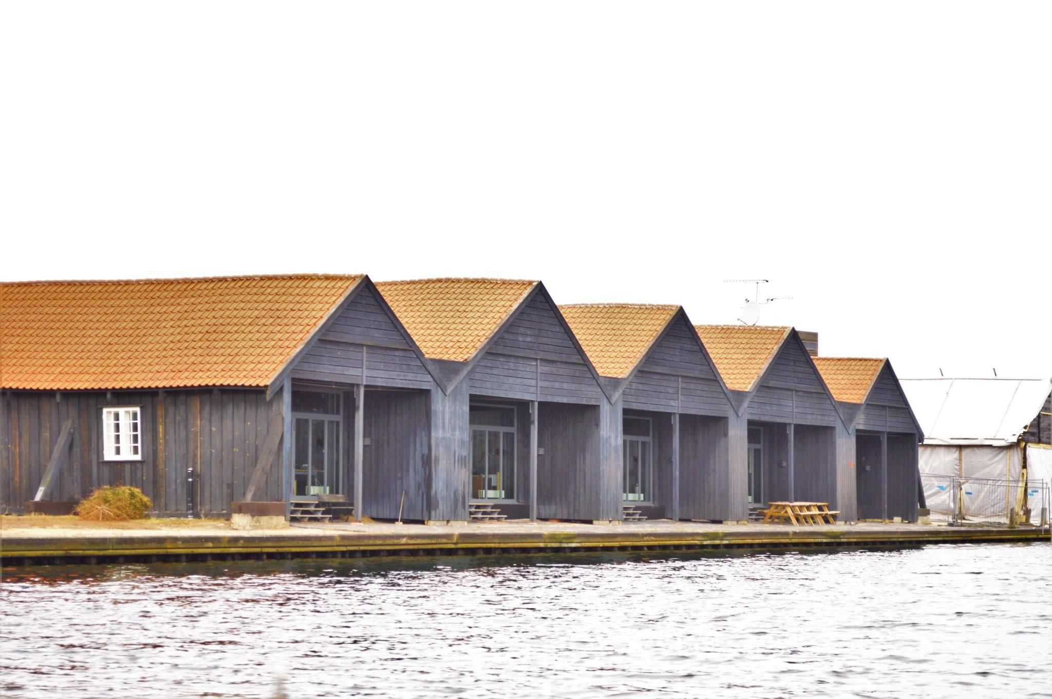 Navy boat sheds in Copenhagen, Denmark