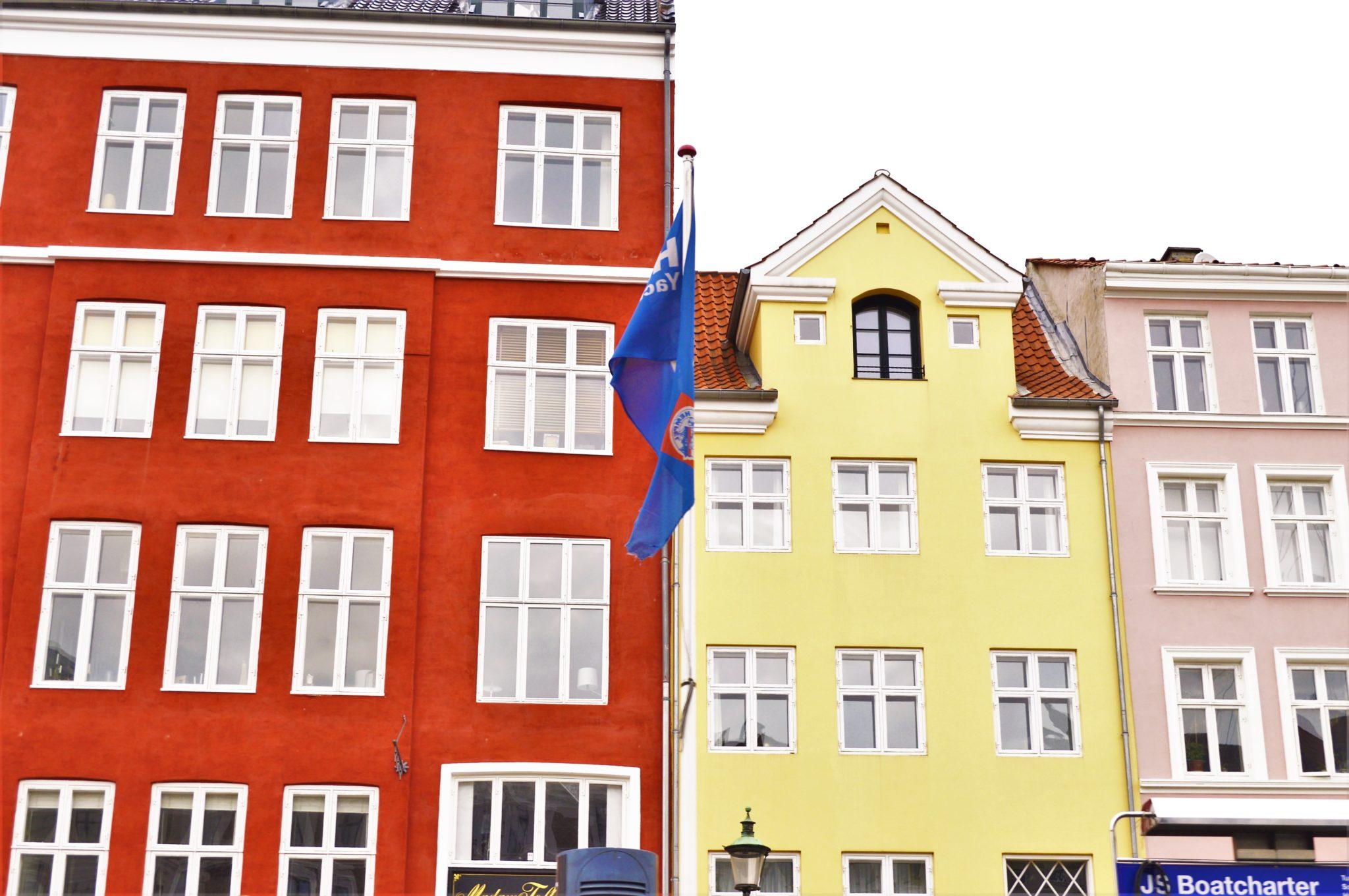 Yellow house Nyhavn, Hans Christian Andersen's house, Copenhagen, Denmark