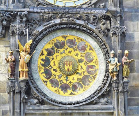 Astronomical Clock, moving figures, Prague, Czech Republic