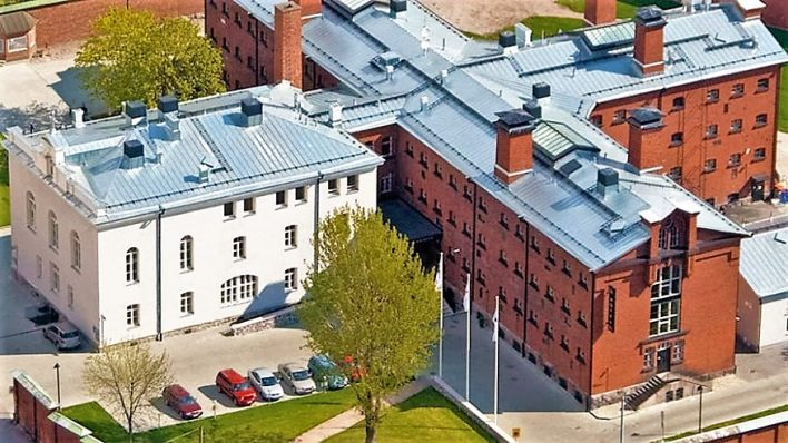 Aerial view of Katajanokka Prison Hotel, Helsinki, Finland