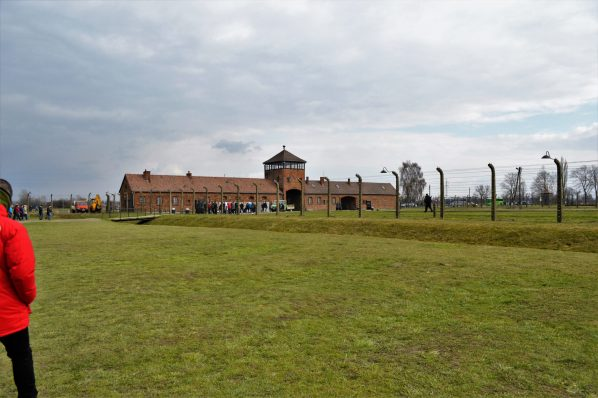 Auschwitz and Birkenau main entrance buildings, Poland, Europe