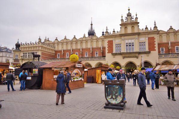 Easter Market stalls in Krakow, Poland