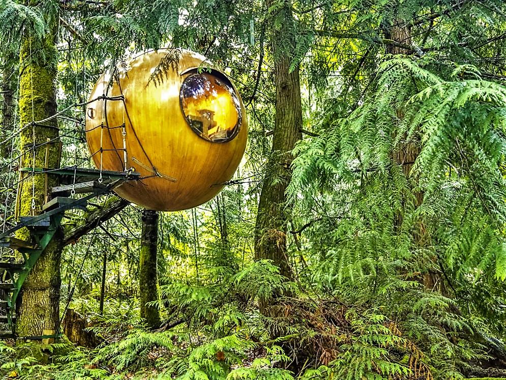 Eve, Free Spirit Spheres hotel, Vancouver Island, Canada