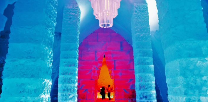 Hotel De Glace reception, Quebec, Canada