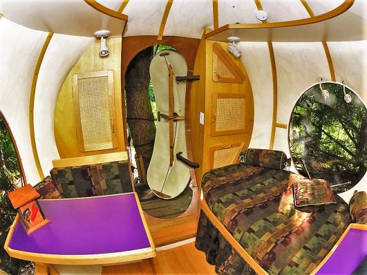 Inside the Free Spirit Spheres, Vancouver Island, Canada