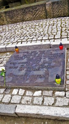 Memorial to murdered victims, Auschwitz and Birkenau, Poland, Europe