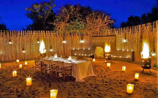 Night time at Londolozi Tree Camp , Private Granite Suites, Kruger National Park, South Africa