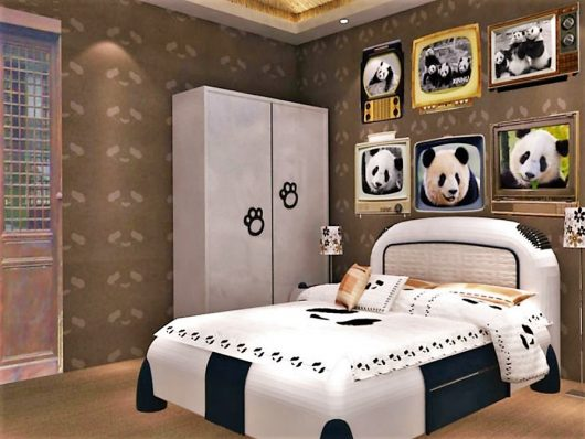 Panda Inn hotel, bedroom China