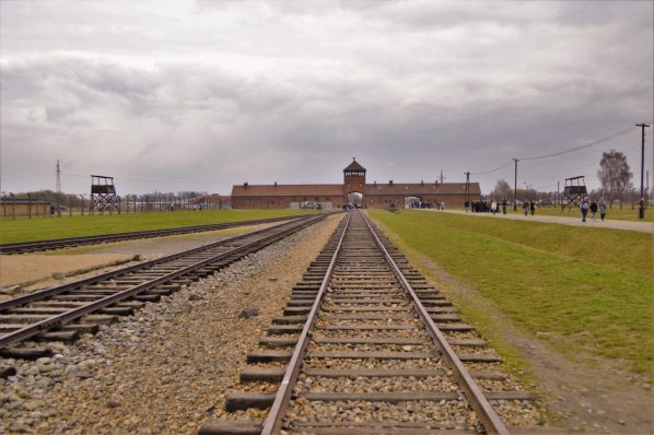 Railway track, Auschwitz and Birkenau, Poland, Europe