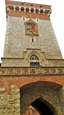 St. Florian's Gate close up, Krakow, Poland, Europe