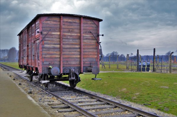 Train carriages, Holocaust train, Auschwitz and Birkenau, Poland, Europe