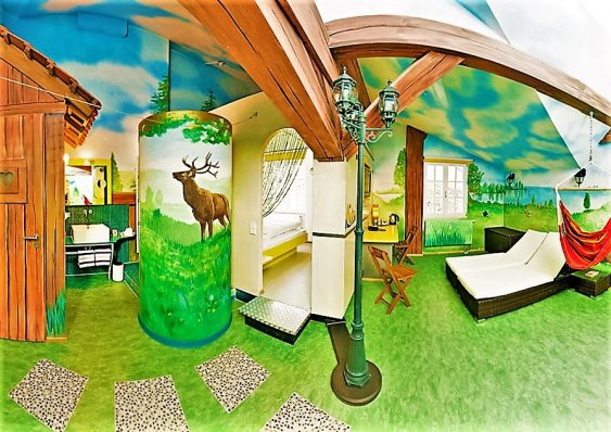 V8 Hotel Camping themed room, Stuttgart, Germany