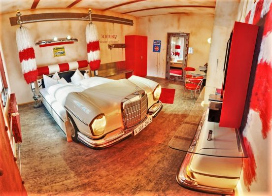 V8 Hotel, Stuttgart, Germany, the Car Wash room