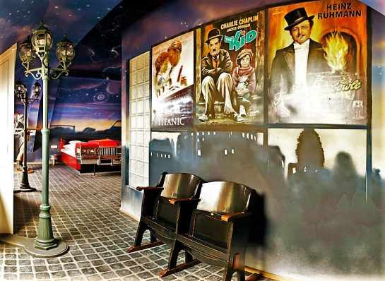 V8 Hotel, Stuttgart, Germany, the Drive in Cinema room