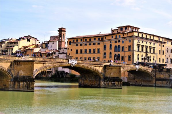 Bridge over river in Florence, Italy