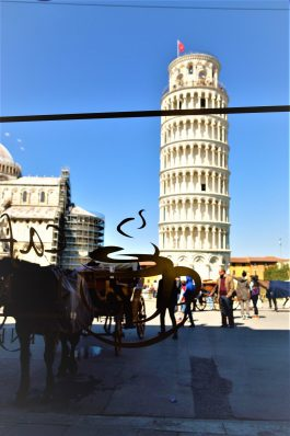 Coffee with a view, Pisa, Italy, Leaning tower.