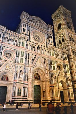 Florence Cathedral at night, Italy