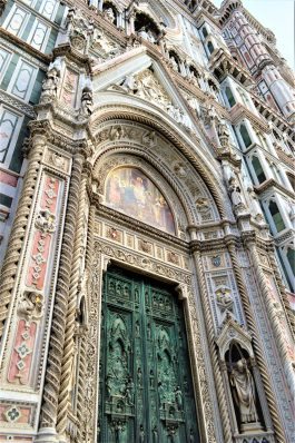 Front door of Florence Cathedral, Italy