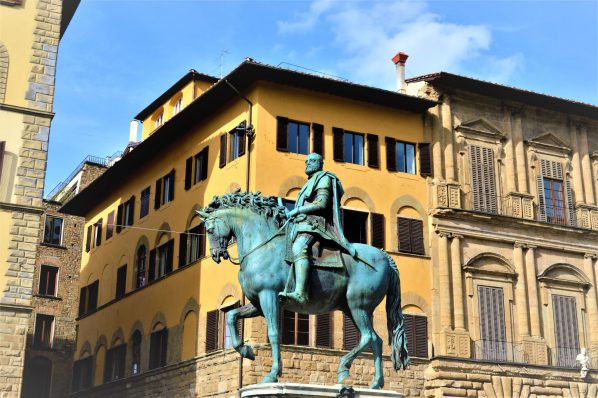 Horse statue in Palazzo Vecchio, Florence, Italy