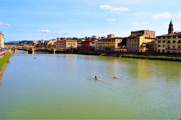 Kayaks in Florence, Italy