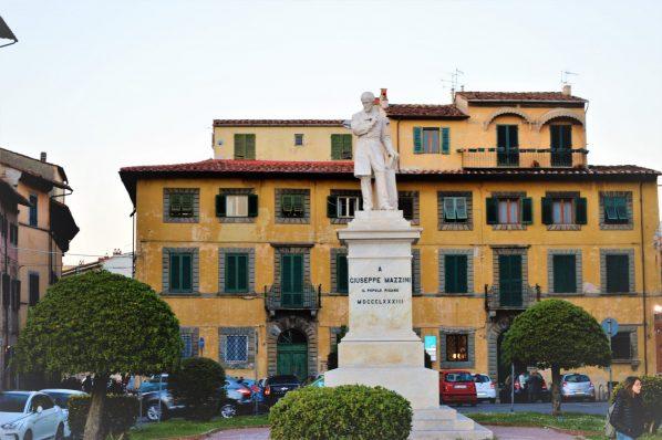 Mazzini statue, Pisa, Italy, Europe