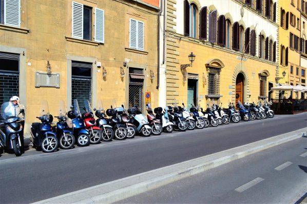 Motorbikes in Florece, Italy