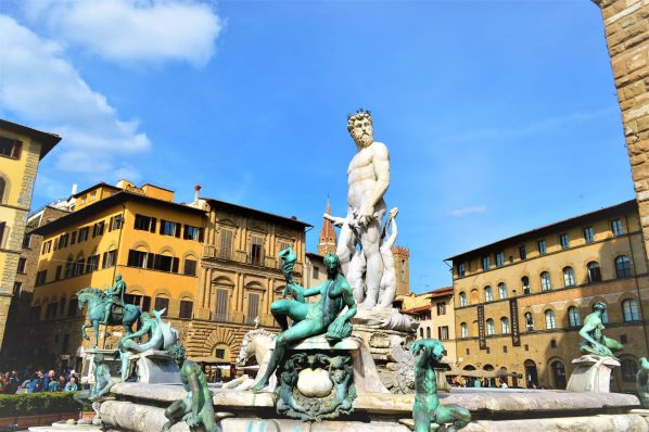 Statue and fountain in Palazzo Vecchio, Florence, Italy