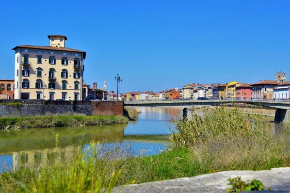 The town of Pisa, Italy, Europe