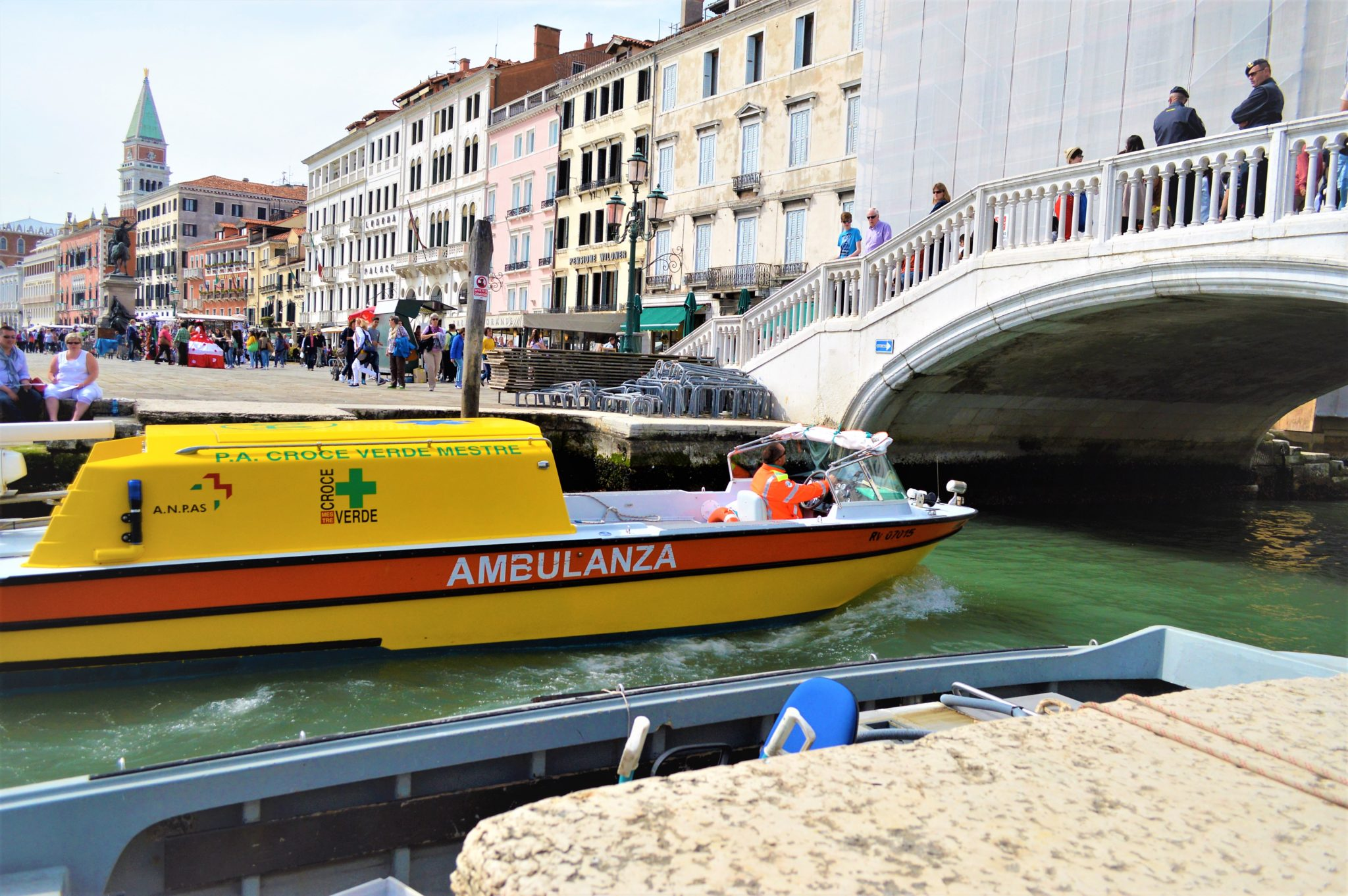 Ambulance in Venice, Italy