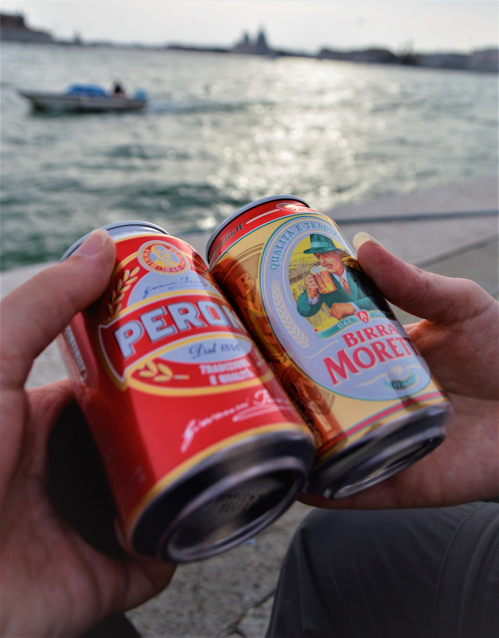 Beers by the Grand Canal in Venice, Italy