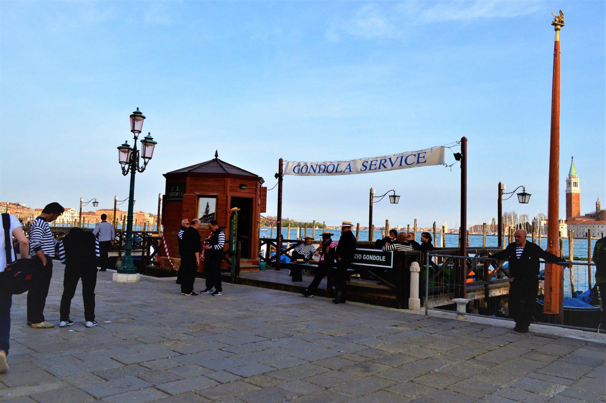 Gondola Service port, Venice, Italy